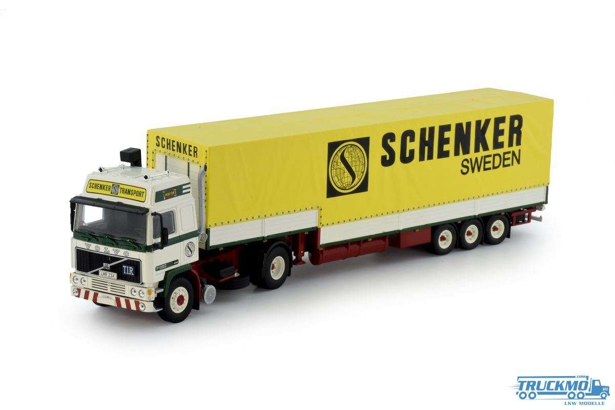 Tekno Walter Lindfors - Schenker Volvo F12 Globetrotter Planenauflieger 70499