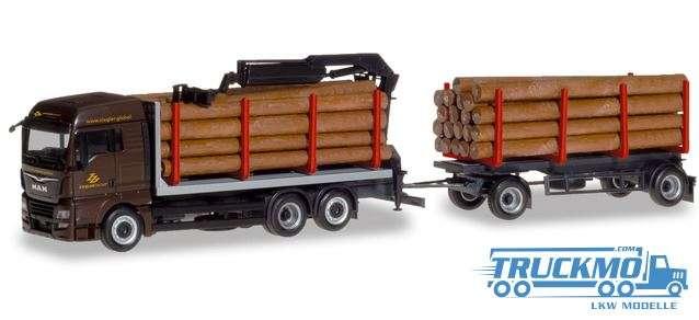 Herpa Ziegler Group MAN TGX XLX Holztransporter-Hängerzug 310277