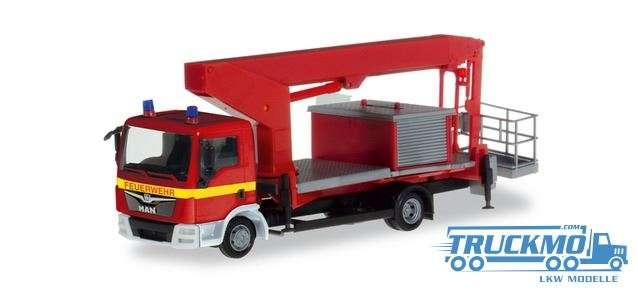 Herpa Feuerwehr MAN TGL Ruthmann Steiger 309721