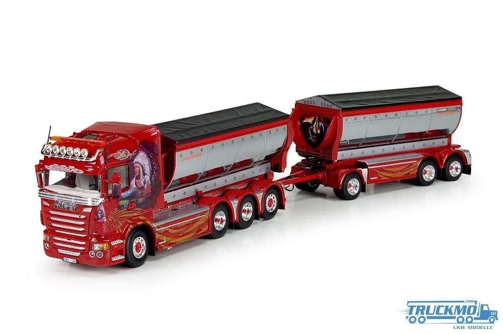 Tekno Gahne Akeri LKW-Modell Scania R 8x4 Rundmulden-Hängerzug 67636