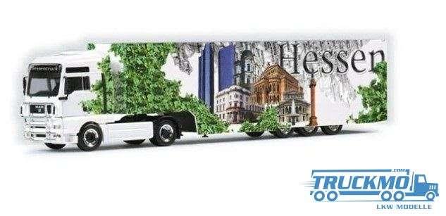 Herpa Hessen Truck MAN TGA XXL Koffer-Sattelzug 120180