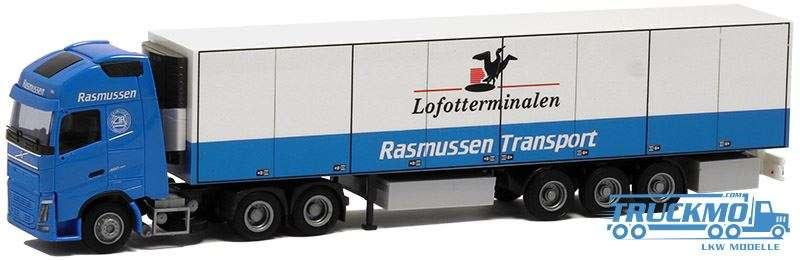 AWM Rasmussen Transport LKW Modell Volvo GL FH 2013 Euro Kühlkoffer Auflieger 53635