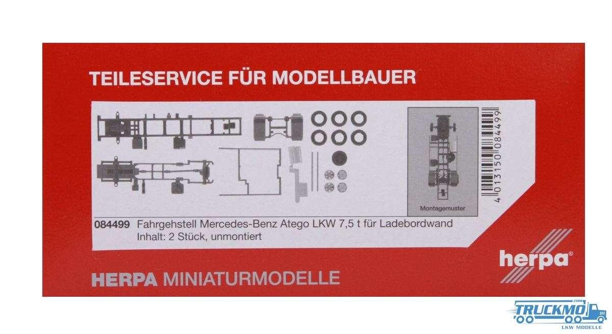 Herpa Fahrgestell Mercedes-Benz Atego LKW 7,5 t für Ladebordwand 2 Stück 084499