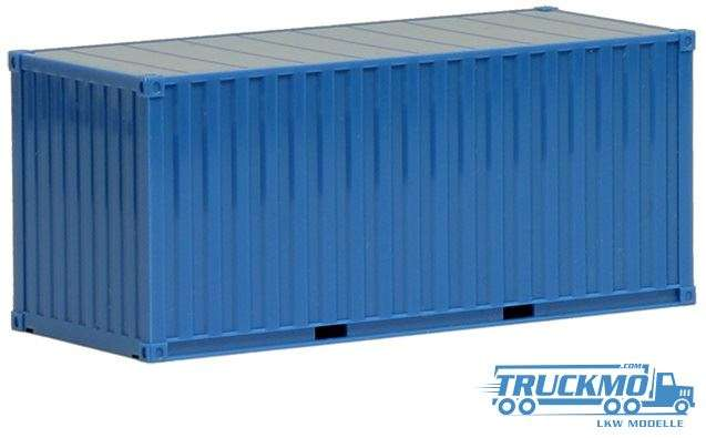 Herpa 20ft Container blau 490035