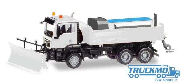 Herpa MiniKit: MAN TGS M 6x6 Winterdienstfahrzeug, weiß 013079