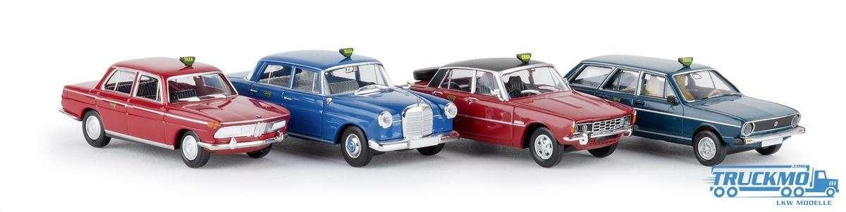 Brekina Taxa BMW 2000 4er Set 90467