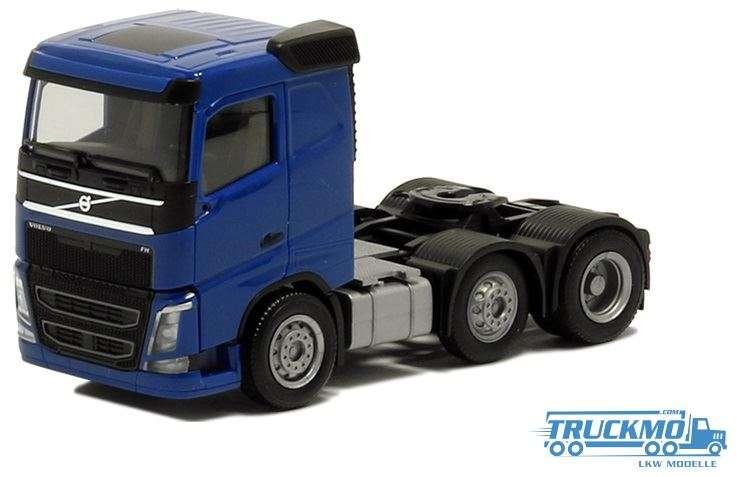 Herpa Volvo FH Flachdach 3-Achs blau 590709
