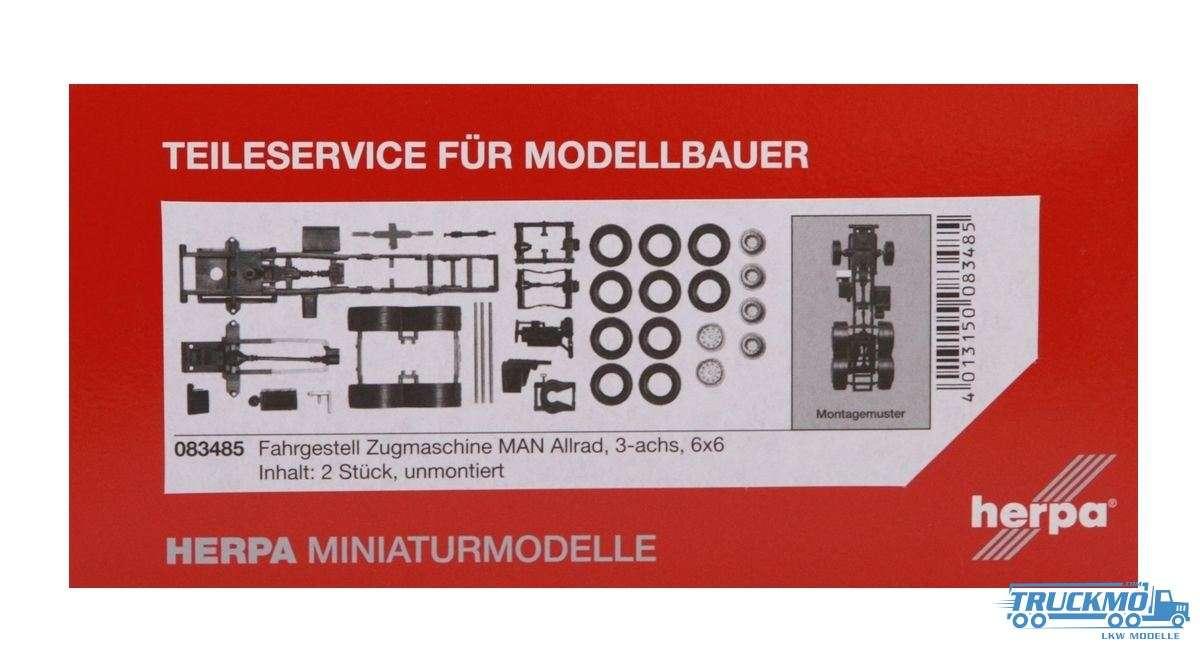Herpa Zugmaschinen-Fahrgestell MAN 3-achs Allrad Inhalt: 2 Stück LKW-Modell