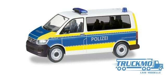 Herpa Polizei Brandenburg Volkswagen T6 Bus 094672