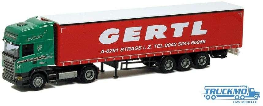 AWM Gertl Scania R09 Topline Planenauflieger 54423