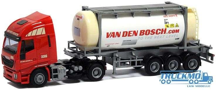 AWM Van den Bosch LKW Modell Iveco HiWay 26' Swapbody 9077.91