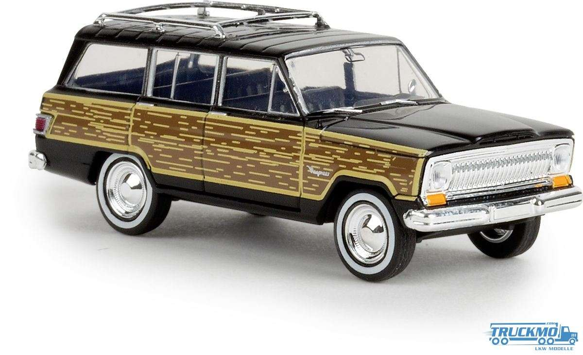 Brekina woody Jeep Wagoneer schwarz 19855