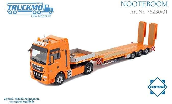 Conrad MAN TGX XXL Euro 6 Nooteboom Semitieflader 76230/01