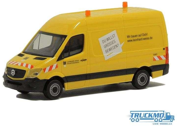 Herpa Leonhard Weiss Mercedes Sprinter 13 Kasten HD 939010