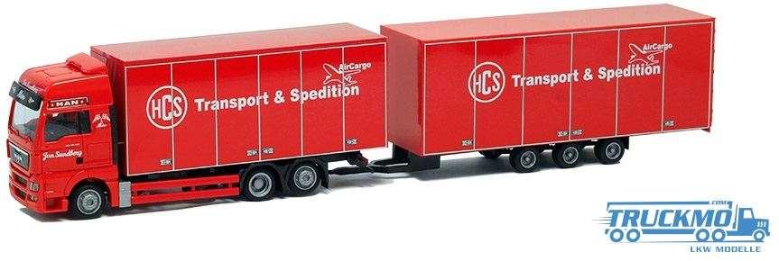AWM HCS / Sundberg MAN TGX XXL Tridem-Kofferhängerzug 74177