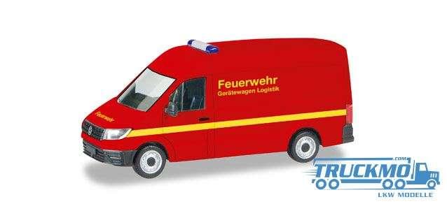 Herpa Feuerwehr VW Crafter Kasten Hochdach 093477