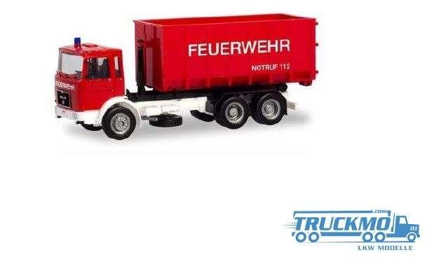 Herpa Basic Feuerwehr MAN F8 Abrollcontainer-Lkw 310963