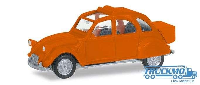 Herpa Citroen 2 CV mit Queue, orange 027632-004