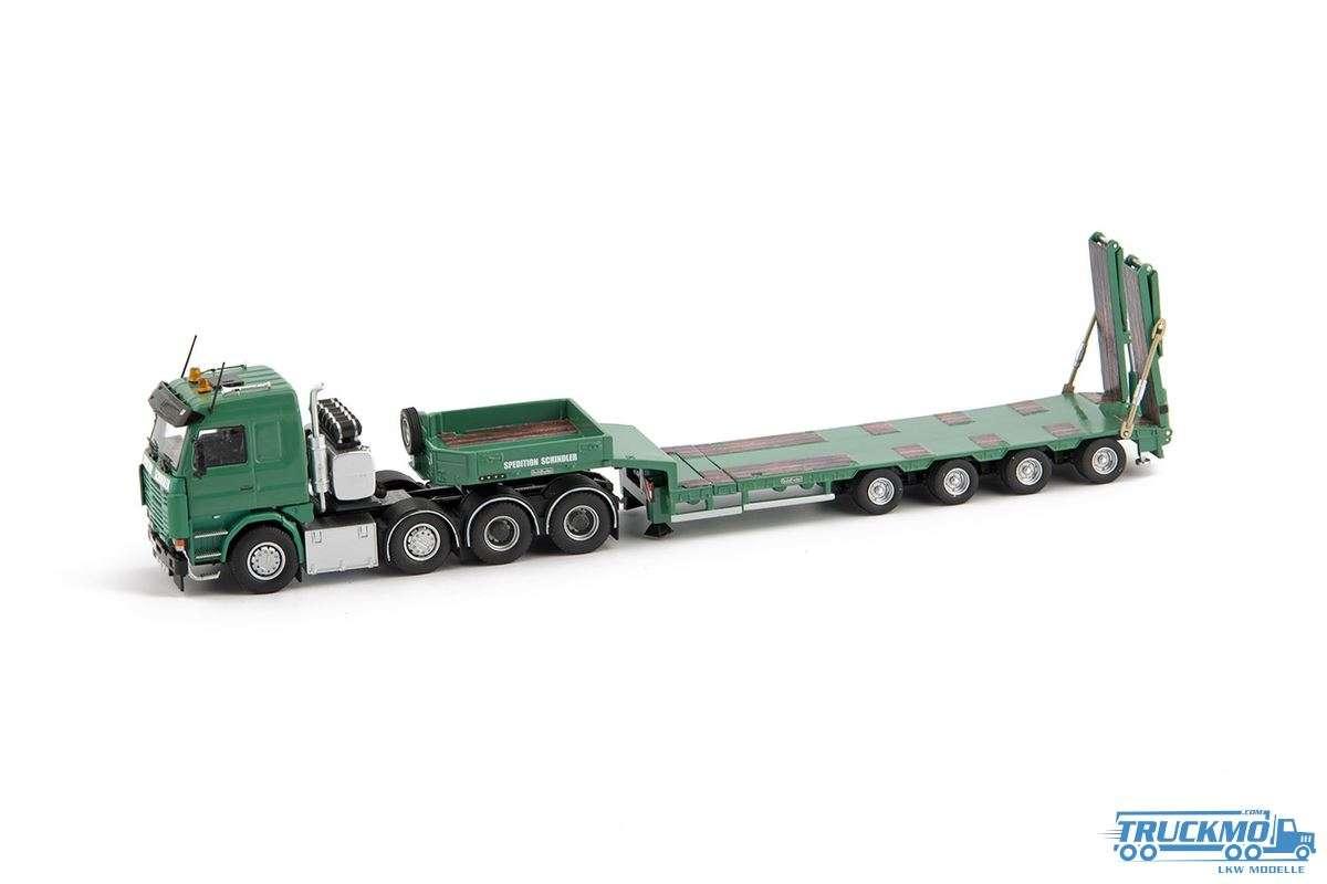 IMC Schindler LKW Modell Scania R143 Topline 8x4 Goldhofer 4 Achs Semi Tieflader 33-0004