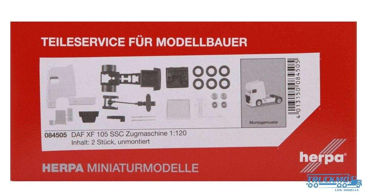 Herpa LKW Modell DAF XF 105 SSC Zugmaschine 2 Stück 084505 1:120