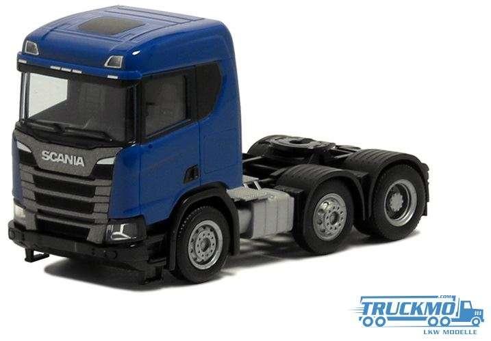 Herpa Scania CR 20 ND 3-Achs blau 580444