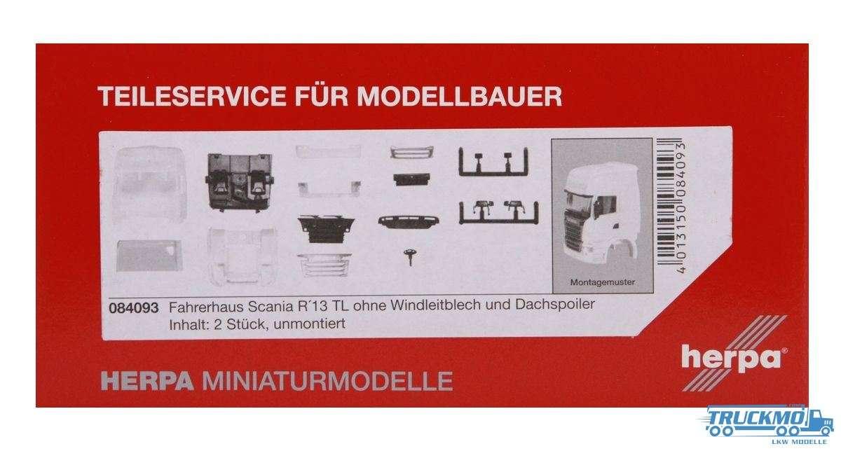 Herpa Fahrerhaus Scania R 13 TL ohne WLB Inhalt: 2 Stk. LKW Modell