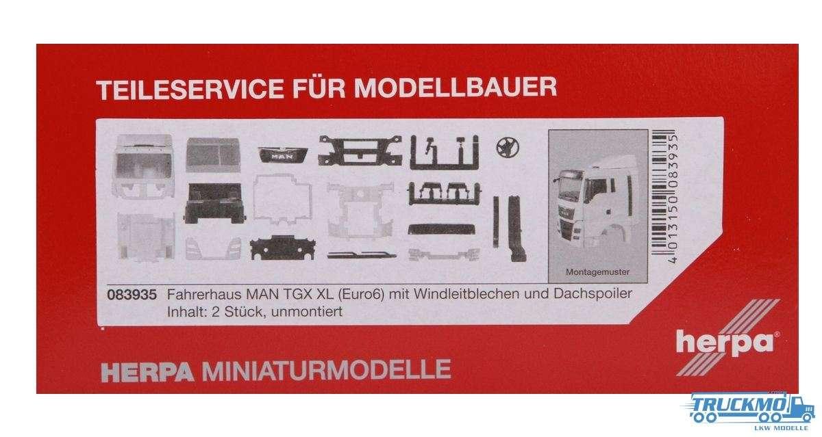 Herpa Fahrerhaus LKW Modell MAN TGX XL Euro 6 mit WLB & Dachspoiler Inhalt: 2 Stück