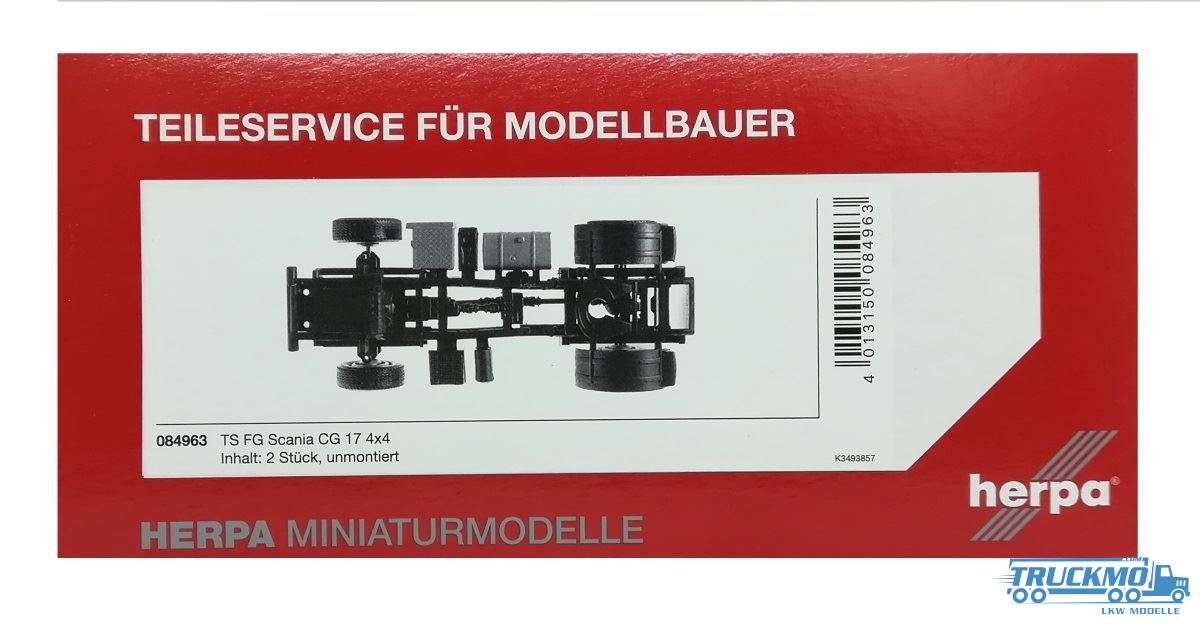 Herpa Fahrgestell Scania 4x4 Zugmaschine 084963
