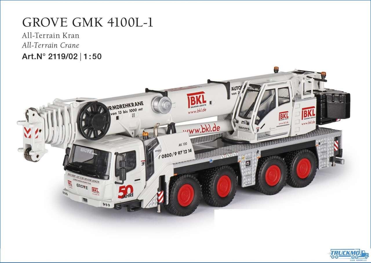 Conrad BKL Grove GMK 4100L-1 AII Terrain Kran 2119/02