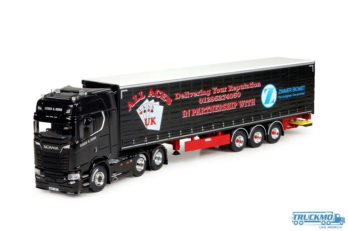 Tekno Coles & Sons Scania S 580 Planenauflieger LKW Modell 72778