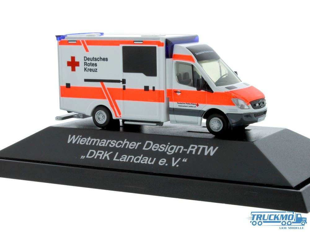 Rietze DRK Landau Mercedes Benz WAS Design-RTW 72041