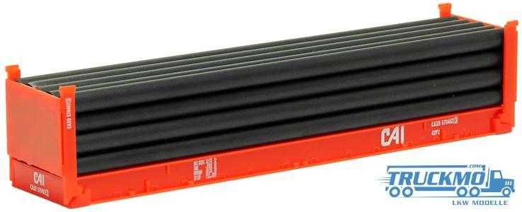 Herpa CAI 40ft Flatcontainer Röhren 491539A
