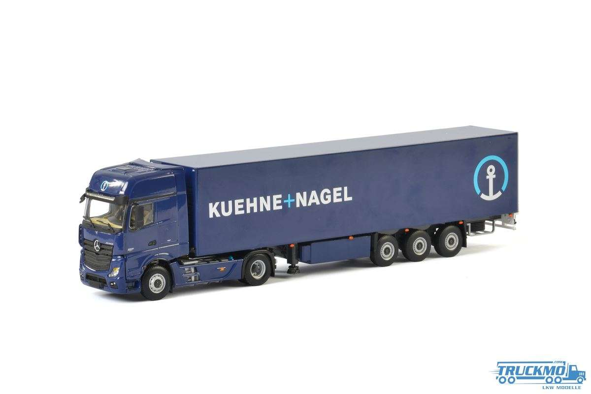 WSI Kuehne + Nagel Mercedes Benz Actros MP4 Gigaspace Kastenauflieger 01-2150