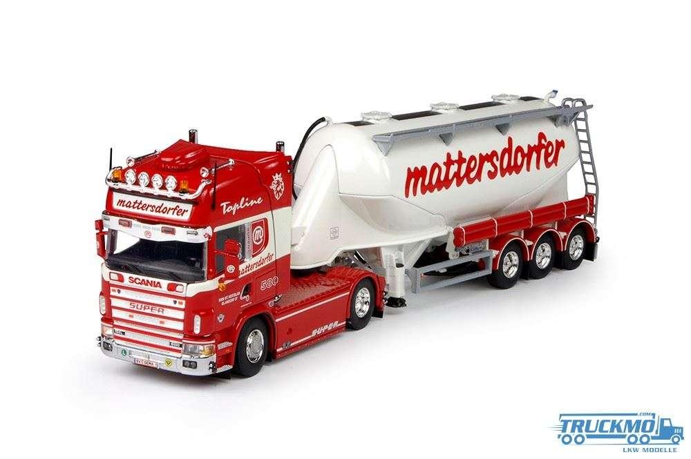 Tekno Mattersdorfer Transporte LKW Modell Scania mit Siloauflieger 69465