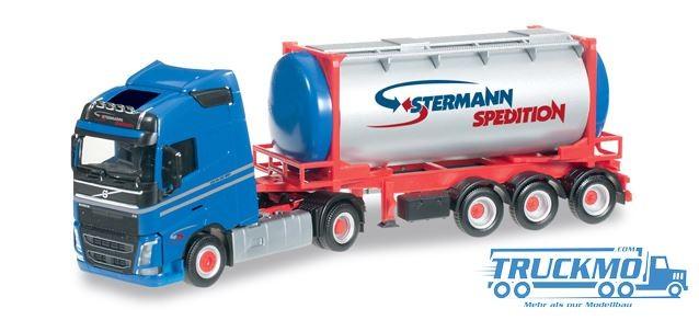 Herpa Stermann Volvo FH GL Tankcontainer-Sattelzug
