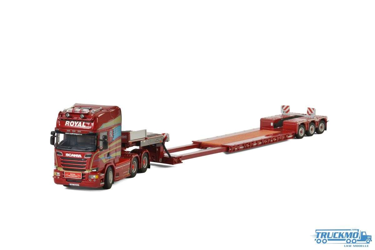 WSI Royal Transport AS Scania R Streamline Topline Nooteboom Tieflader 01-2334