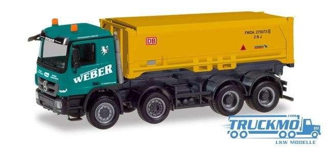 Herpa Weber / Stuttgart 21 Mercedes Benz Actros M Schmitz Absetzkipper-LKW 310376