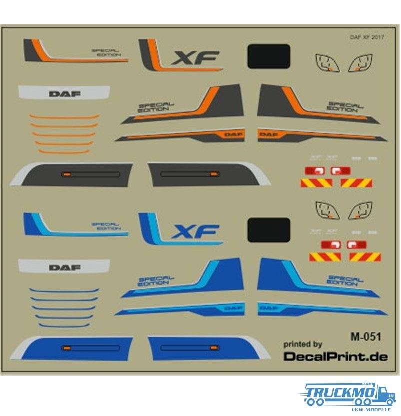 Decal DAF XF Special Edition 1:87 12M-051.0