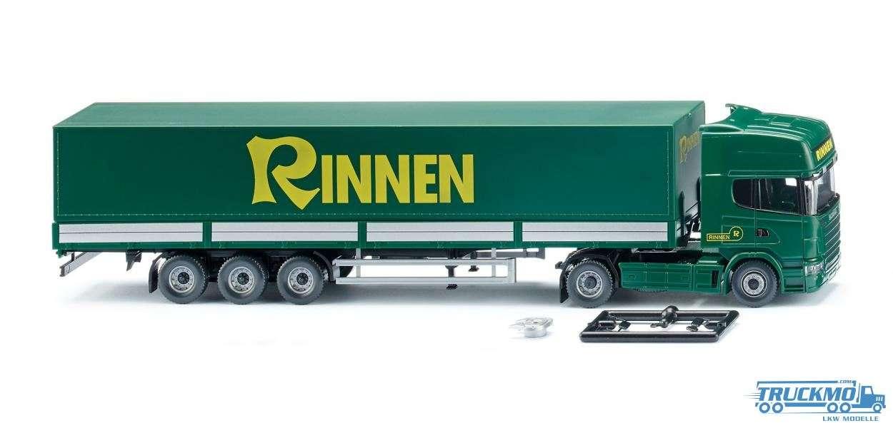 Wiking Rinnen Scania R 420 Topline Pritschensattelzug 051804