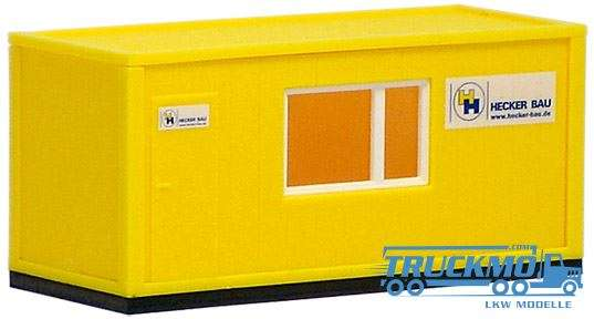 Herpa Hecker Bau, 20ft. Baucontainer 490641