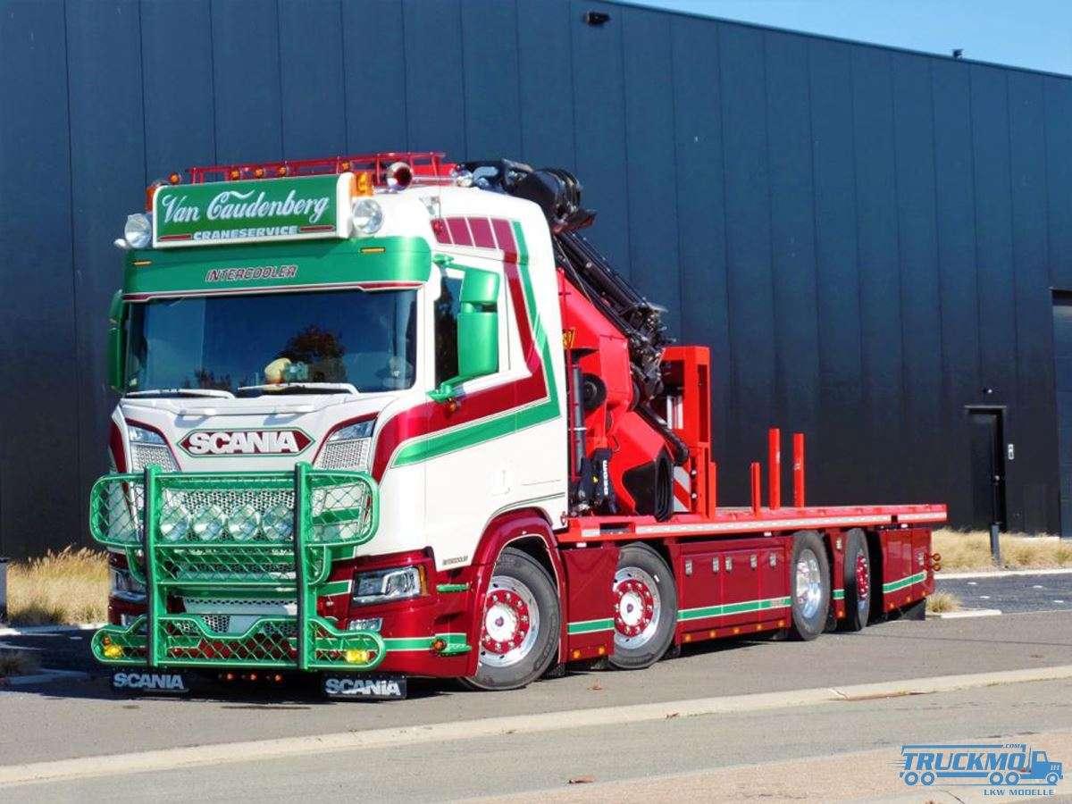 WSI Transport van Caudenberg Scania R Normal CR20N Palfinger PK 92002 SH JIB 01-2957