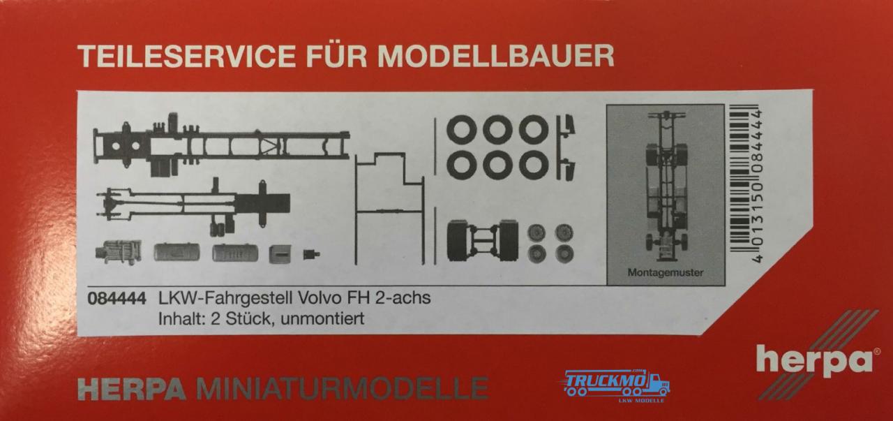 Herpa LKW-Fahrgestell Volvo FH 2-achs Inhalt: 2 Stück 084444