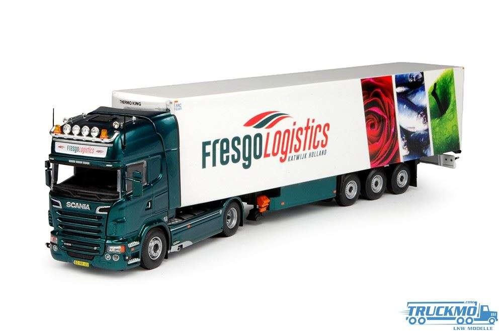 Tekno Fresgo Logistics LKW Modell Scania R6 Topline mit Kühlauflieger 65609