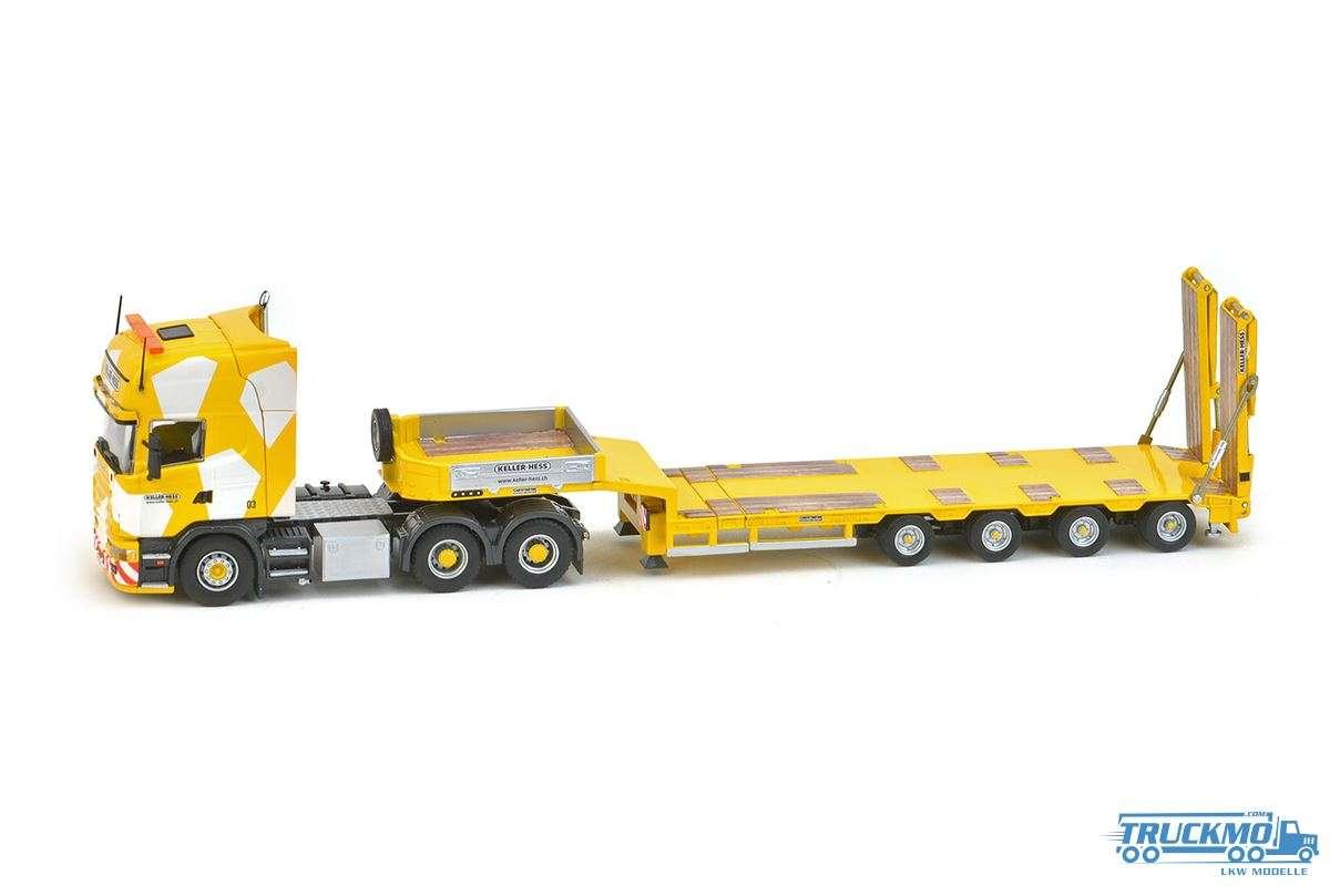 IMC Keller + Hess LKW Modell Scania R4 Tl 6x4 Goldhofer 4 Achs Semi-Tieflader 32-0002