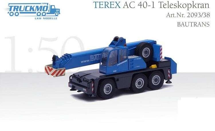 Conrad BAUTRANS Terex AC40 Teleskopkran Kran Modell 2093/38