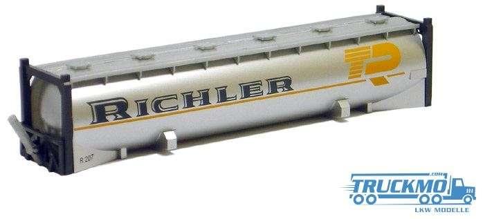 AWM Richler 40ft. Drucksilocontainer silber lackiert 491250