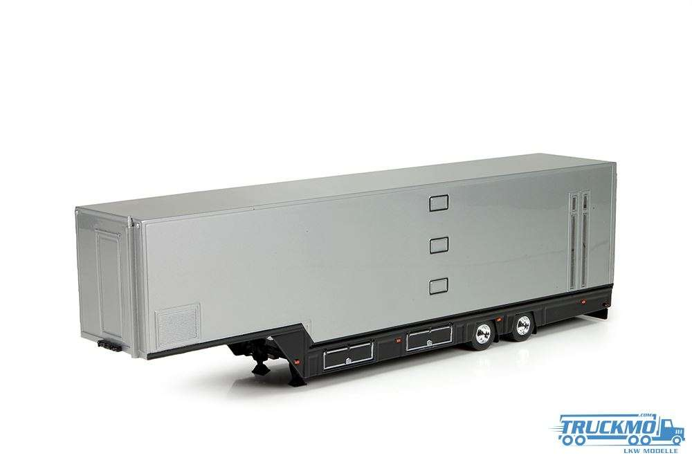 Tekno Racing trailer silber 2 Achs 72831