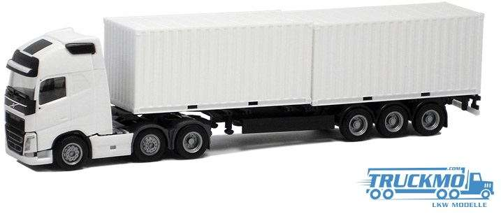 Herpa Volvo FH Globetrotter XL Containerauflieger 2x20ft Container BM924474