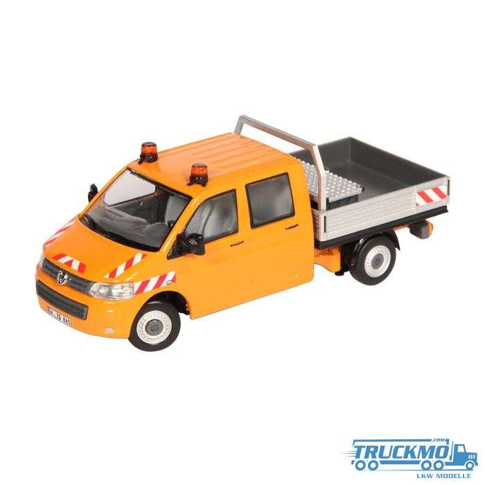 NZG VW T5 Doppelkabine / Pritsche orange 888/65