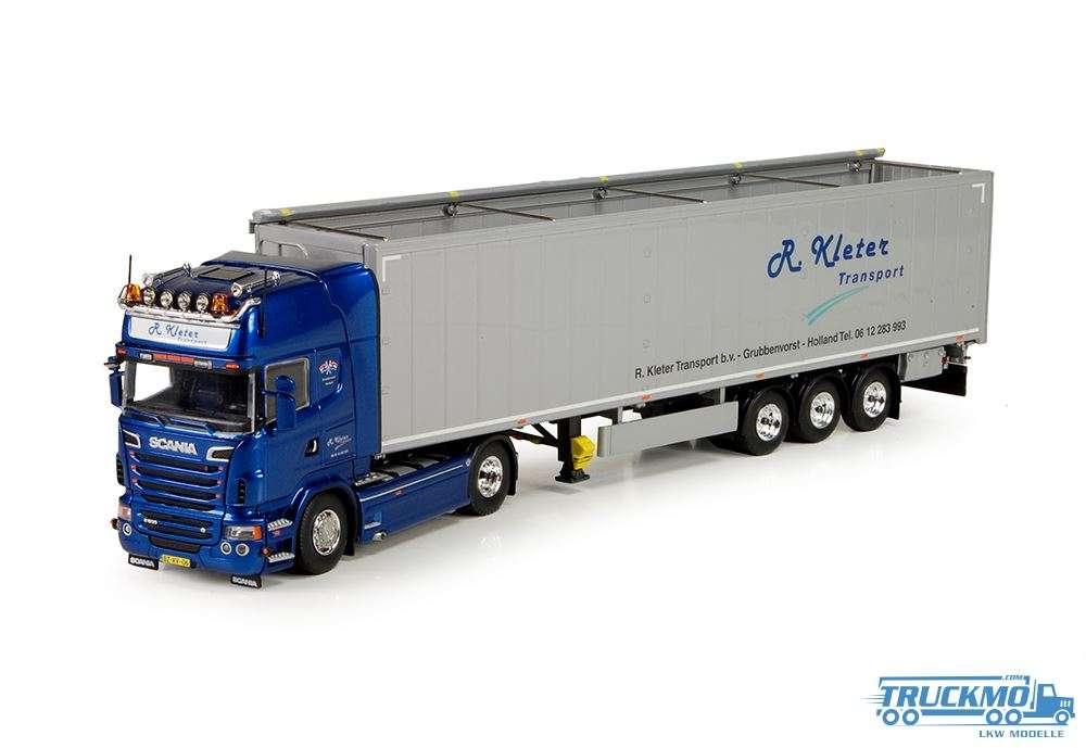 Tekno Kleter Scania R-Serie Topline mit Schubbodenauflieger 71286
